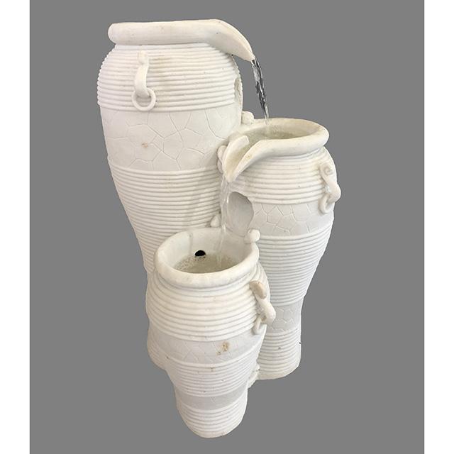 Garden Furniture / fountain / 噴水|壺型|3段|小型|アンティーク ホワイト|循環式|IB Selection|HGE0064IB