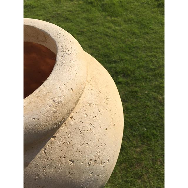 lower Base-フラワーベース|素焼き花瓶|アンティーク仕上げ|HGE0066IB