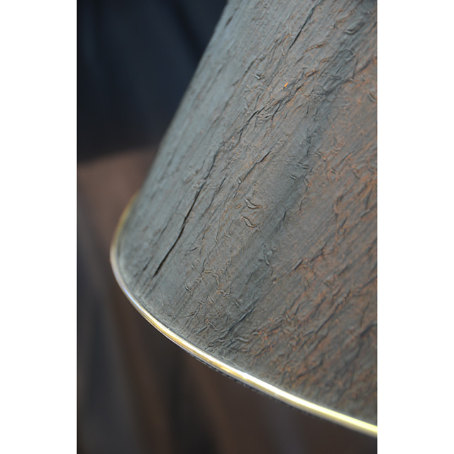 Pottery Lamp / 陶器ランプ シェード付き ブラック×シルバー LMP0039IB