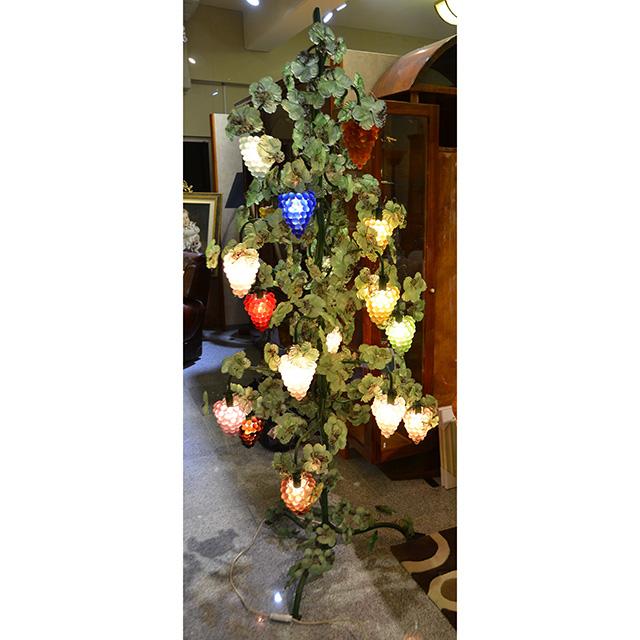 Venice Glass Lamp  / ベネチアンガラス ランプ 葡萄ランプ IBERIA 特注品 TOSO CESARE / トソ セザーレ イタリア製 LMP0048IB