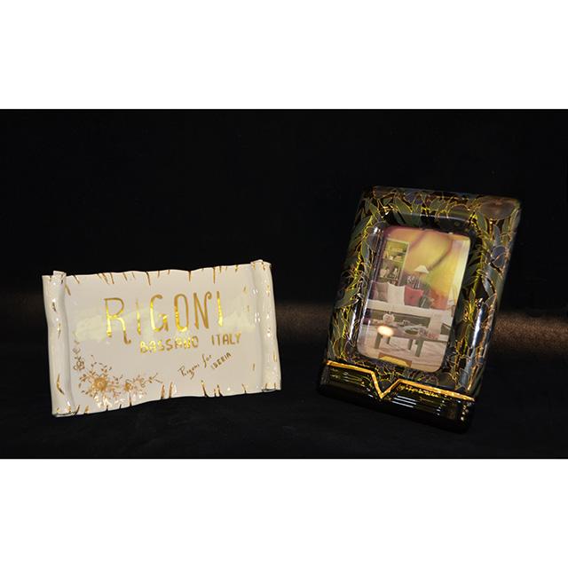 Picture Frames / 写真たて Lサイズ Botanical ×Black / ボタニカル ×ブラック Angela Rigon  : イタリア OBJ0123RGN