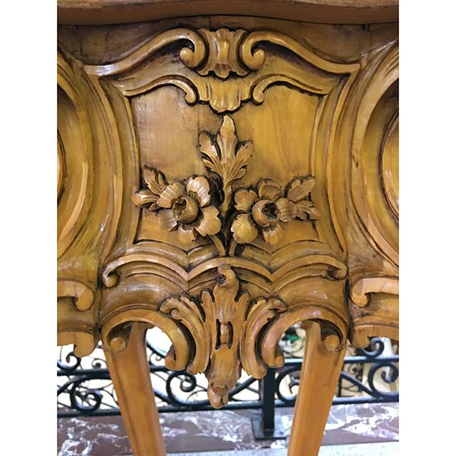 イタリア製|大理石天板 彫刻仕上げコラム|IB Selection|CSL0037IB