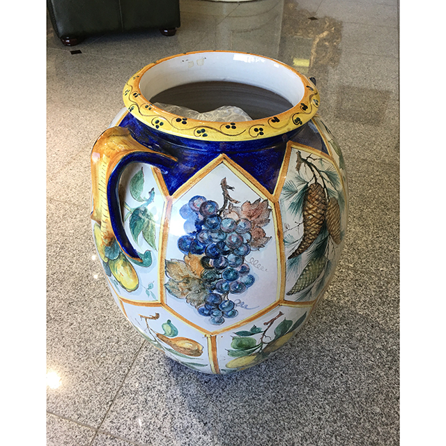 Flower Vase / フラワーベース 陶器花瓶 壺  OBJ0179IB