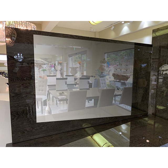 Mirror & Side Board - ミラー&サイドボード|木目調・グレー仕上げ|イタリア製|SRE0093IB
