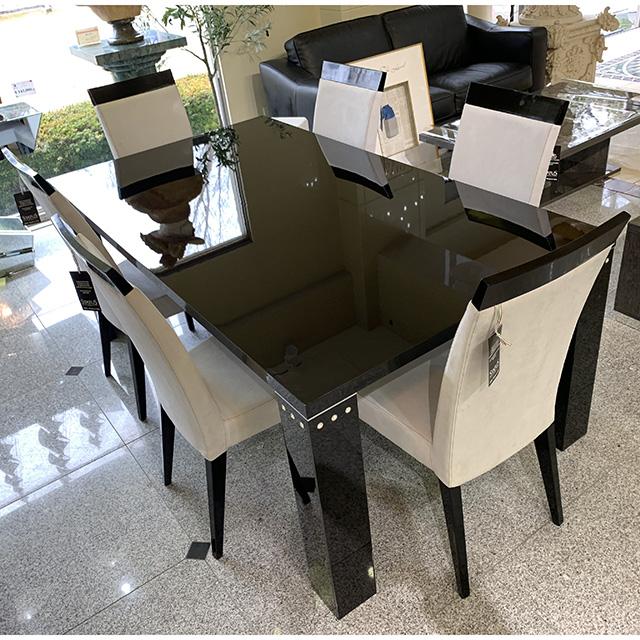 dining Table - ダイニングテーブル 190cm 黒・鏡面 仕上げ イタリア製 TBL0059IB